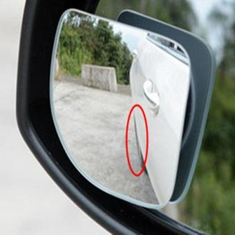 BUYINCOINS 2Pcs Car 360 Degree Adjustable Motorcycle Blind SpotRear View Mirror Accessories - intl - 2