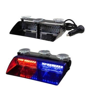 BUYINCOINS NEW Car 16 LED Red/Blue Police Strobe Flash Light Dash Emergency Flashing Light Multicolor - intl - 4