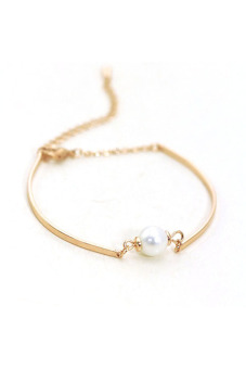 Buytra Gold Pearl Chain Bracelet Women Charm Fashion - picture 3