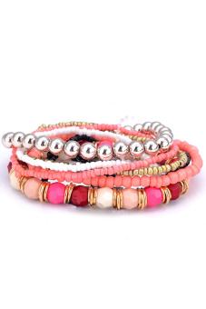 Buytra Multilayer Bracelet Bohemia 7 Layers Pink