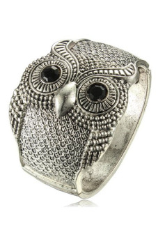Buytra Women Cuff Bracelets Vintage Width Wide Owl Silver