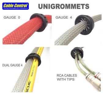 Cable Control UNIGROMMETS (fits 0awg and smaller) , Grommets - 4