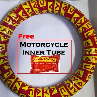 Caiya CY1 80/80R17 Motorcycle Tire 6ply with free Inner tube(2.50x17) - 2