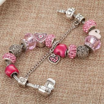Candy Online Europe and the United States trendy 925 Silver Pandora charm bracelet crystal bracelet B16074 - 4
