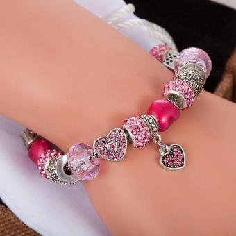 Candy Online Europe and the United States trendy 925 Silver Pandora charm bracelet crystal bracelet B16074 - 5
