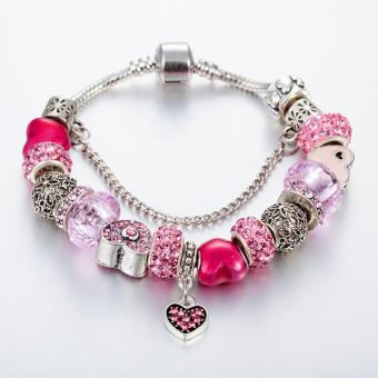Candy Online Europe and the United States trendy 925 Silver Pandora charm bracelet crystal bracelet B16074 - 2