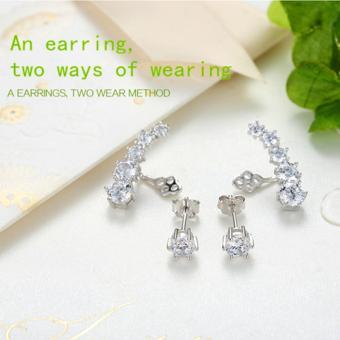 Candy Online Korean fashion diamond 925 silver earrings jewelry ED109 - 3