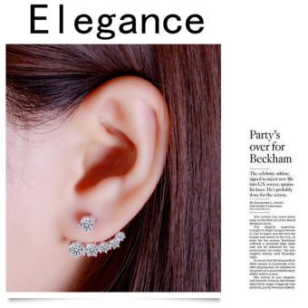 Candy Online Korean fashion diamond 925 silver earrings jewelry ED109 - 2