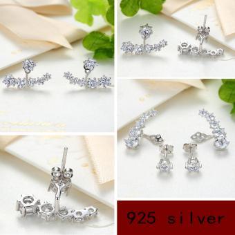 Candy Online Korean fashion diamond 925 silver earrings jewelry ED109 - 5