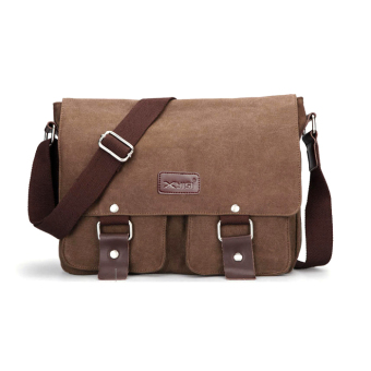 Canvas Messenger Shoulder Sling Bag for Men Students Coffee Price Philippines
