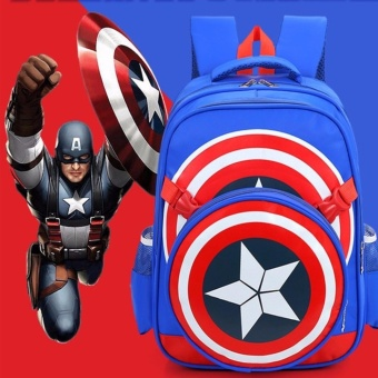 Captain America 2 in 1 School Backpack for Kids (Medium) #0126