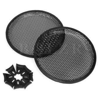 Car Audio iron mesh grill Subwoofer Speaker Cover Set of 2