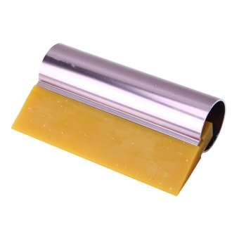 Car Auto Body Surface Window Wrapping Film Yellow Rubber ScraperSticker Tool Black With Pink Metal Handle - intl - 2