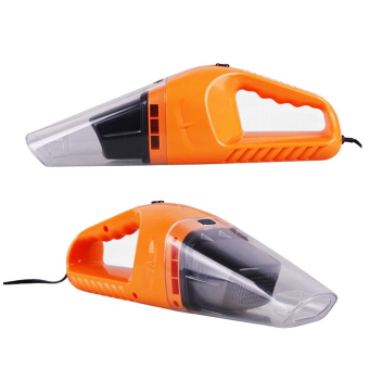 Car Care Kits + Portable Mini 12V 120W Car Vacuum Cleaner VehicleAuto Handheld Vacuum Dirt Wet & Dry (Orange) - 2