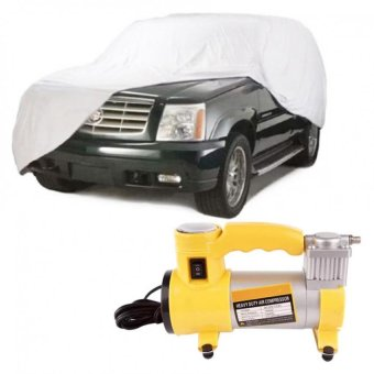 Car Cover SUV With Heavy Duty Air Compressor (Yellow)