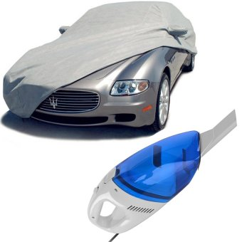 Car Cover With Portable Car Vacuum Cleaner (Blue)