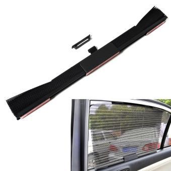 Car Retractable Window Sun-shading Curtain Heat-insulated Black