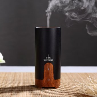 Car Ultrasonic Aroma Oil Diffuser Air Humidifier Mist Maker (Black)