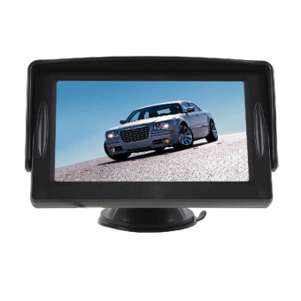 Car Universal Rear View Monitor with Night Vision Reverse Video Camera (Black)
