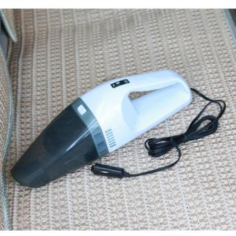 Car Vacuum Cleaner Wet And Dry Dual-use Super Suction 12V 60W Tile Vacuum Cleaner (White)
