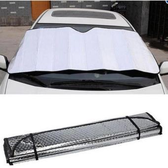 Car Windshield Visor Cover Front Rear Block Window Sun Shade Foldable - 3