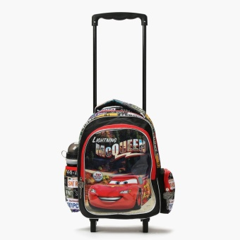 Cars Boys Lightning McQueen Light Up Trolley Backpack