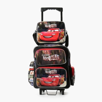 Cars Boys Lightning McQueen Trolley Backpack with Lunch Bag