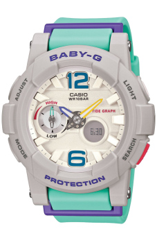 Casio Baby-G Women's Resin Strap Watch BGA-180-3BDR Blue Green