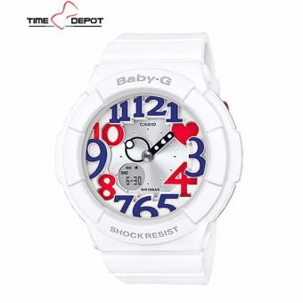 Casio Baby-G Women's White Resin Strap Watch BGA-130TR-7B