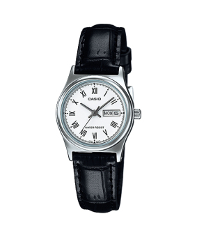 Casio Black Leather Strap Women'S Watch Ltp-V006L-7B - picture 2