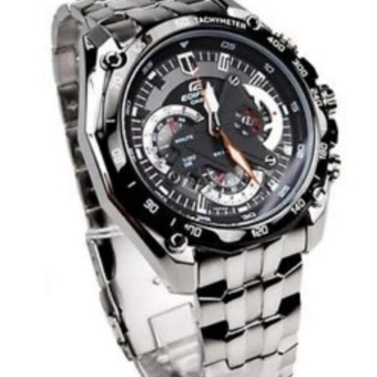 Casio Edifice Chronograph Men's Stainless Steel Strap Watch EF-550D - 2