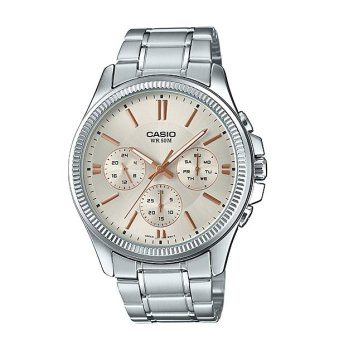 Casio Enticer Men's Silver Stainless steel Strap WatchMTP-1375D-7A2V