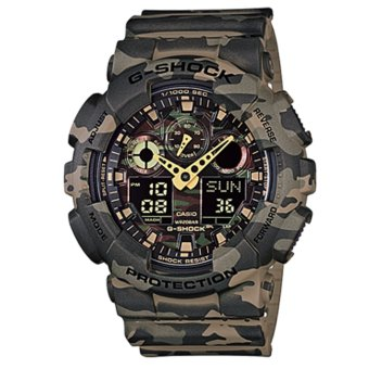 CASIO G-SHOCK GA-100CM-5A Men's Camou Resin Strap Watch