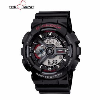 Casio G-Shock Men's Black Resin Strap Watch  GA-110-1A