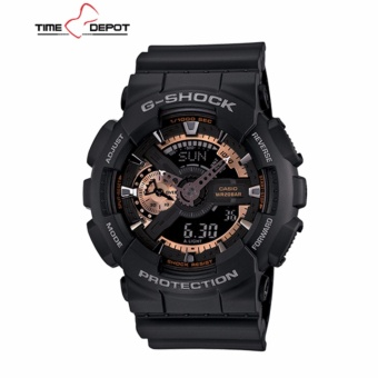 Casio G-Shock Men's Black Resin Strap Watch GA-110RG-1A