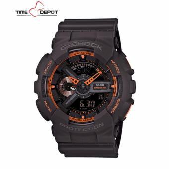 Casio G-Shock Men's Black/Gray Resin Strap Watch GA-110TS-1A4
