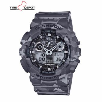 Casio G-Shock Men's Camouflage Resin Strap Watch GA-100CM-8A