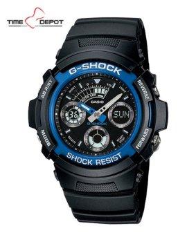 Casio G-Shock Men's Blue Resin Strap Watch AW-591-2A