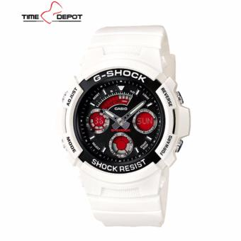 Casio G-Shock Men's White Resin Strap Watch AW-591SC-7A