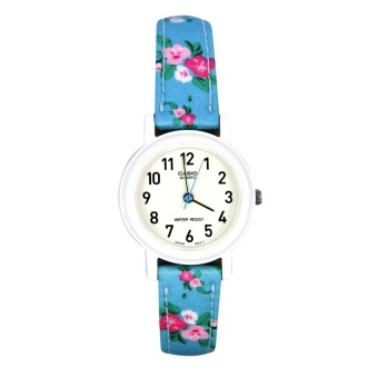 Casio Ladies Classic Women's Blue Floral Leather Strap Watch LQ-139LB-2B2DF