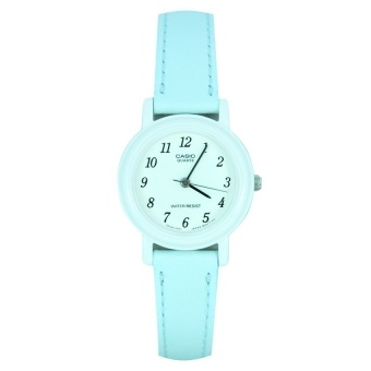 Casio Ladies Classic Women's Pastel Blue Leather Strap Watch LQ-139L-2BDF