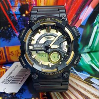Casio Men's Analog Digital Aircraft Watch Black/Gold AEQ-110BW-9A - 3