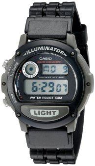 Casio Men's Resin Band Watch W-87H-1VHDR (Black)