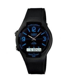Casio Unisex Black Resin Strap Watch AW-90H-2BVDF