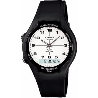 Casio Unisex Black Resin Strap Watch AW-90H-7BVDF