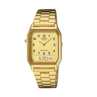 Casio Vintage Unisex Gold Stainless Steel Strap Watch AQ-230GA-9DMQ