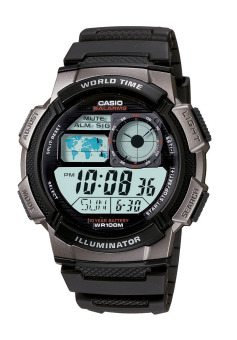 Casio Youth Men's Black Resin Strap Watch AE-1000W-1B with 1 Year Warranty (T1Y)