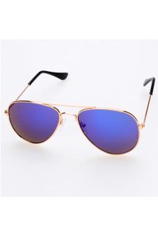 Children Unisex Classic Retro Style Sunglasses (Blue)