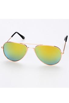 Children Unisex Classic Retro Style Sunglasses (Golden)
