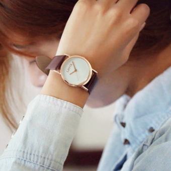 Classic Korean-style small dial round women's watch